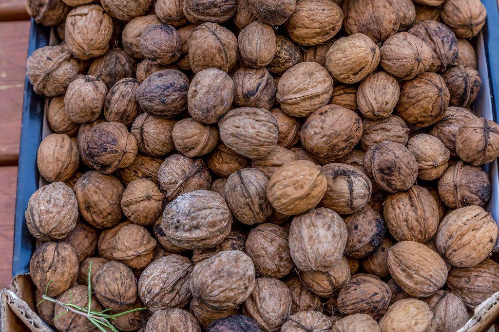 Walnuts on marketplace