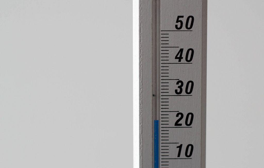 Wand- und Zimmerthermometer vor weißem Hintergrund