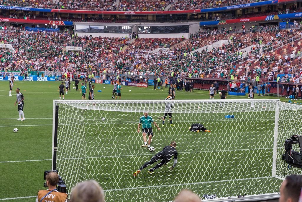 Warming up before the kick-off - Germany vs Mexico