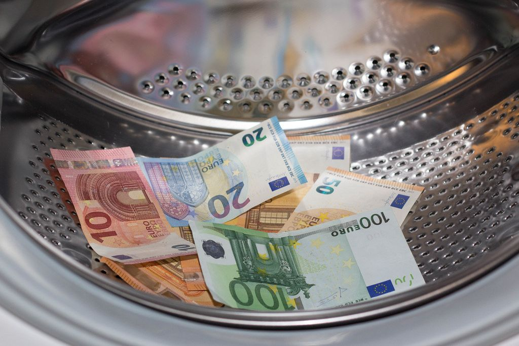 Washing machine full of money