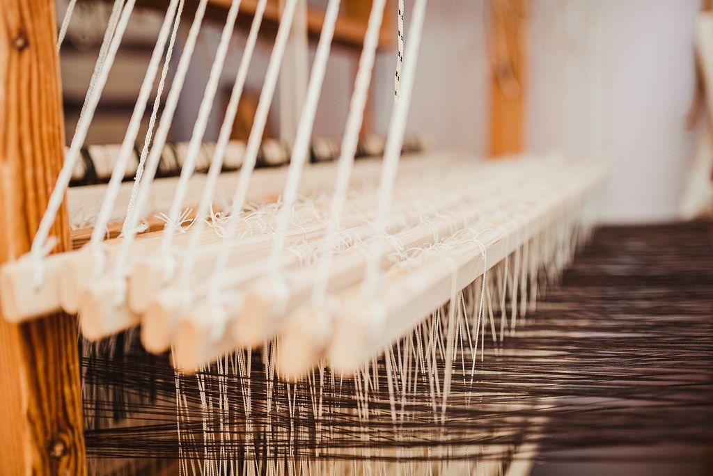 Weaving Background With Wool Yarns.JPG
