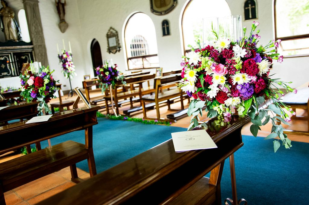 Wedding decoration in a chapel