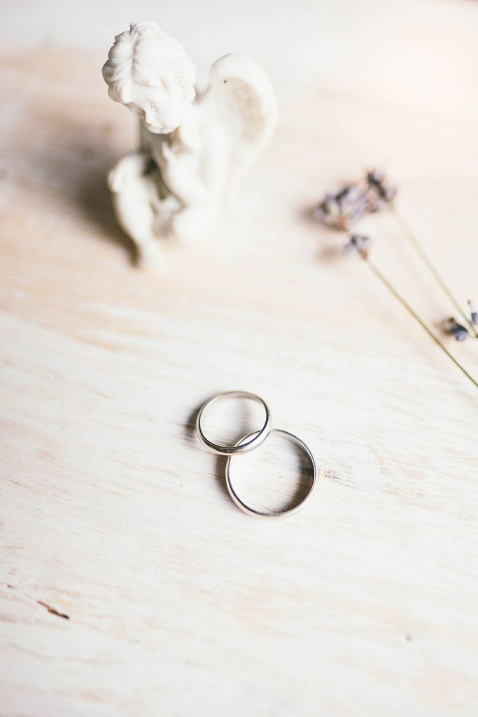 Wedding rings and romantic details