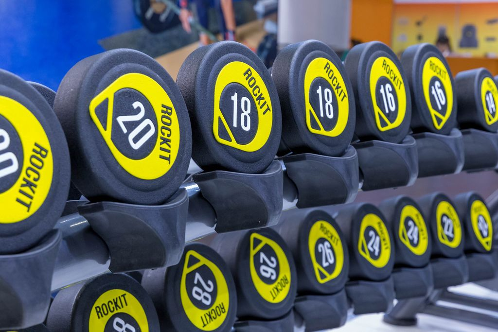 Weights of RockIt Fitness from Shanghai, China presented at Fibo