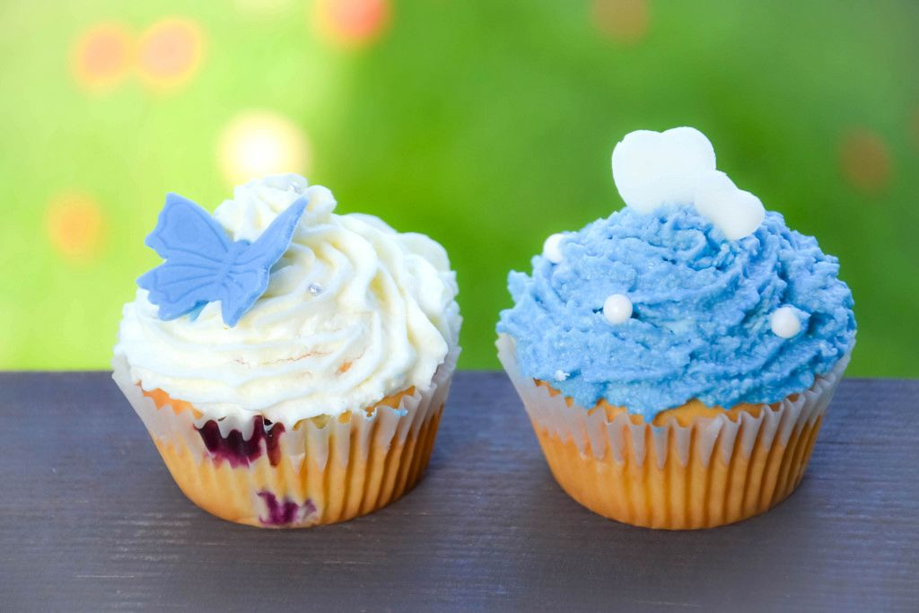 Weiße & blaue muffins
