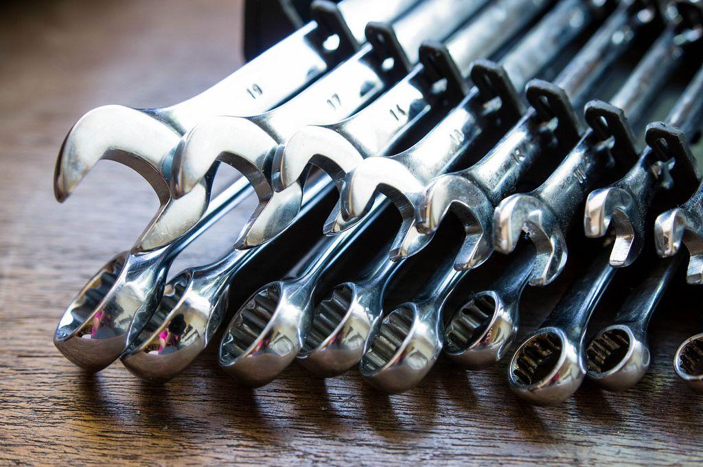 Werkzeugset mit Schraubenschlüsseln