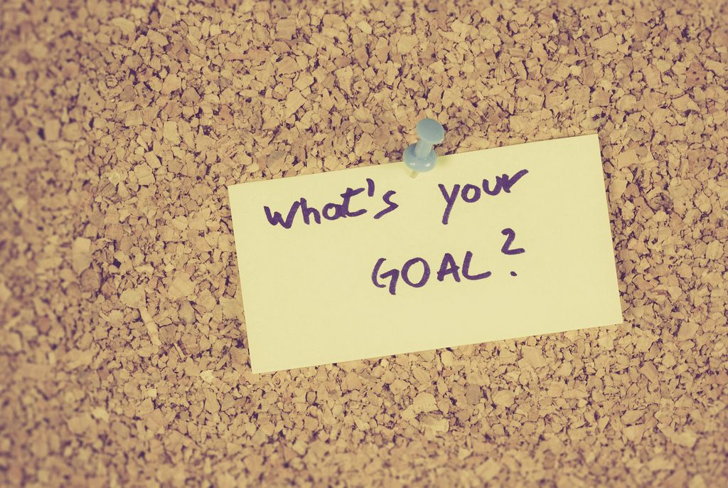 What's your goal written on a yellow paper