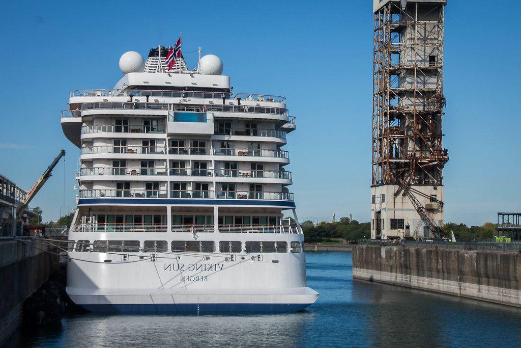 White Cruising Ship at the Dock  (Flip 2019)