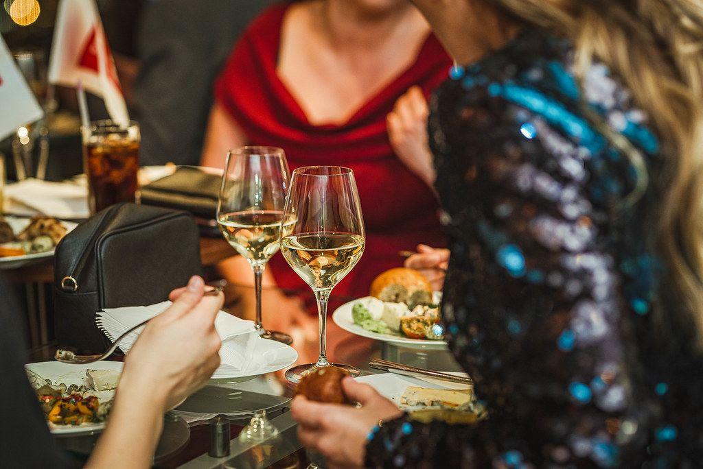 White Wine Drinking Evening With Girls