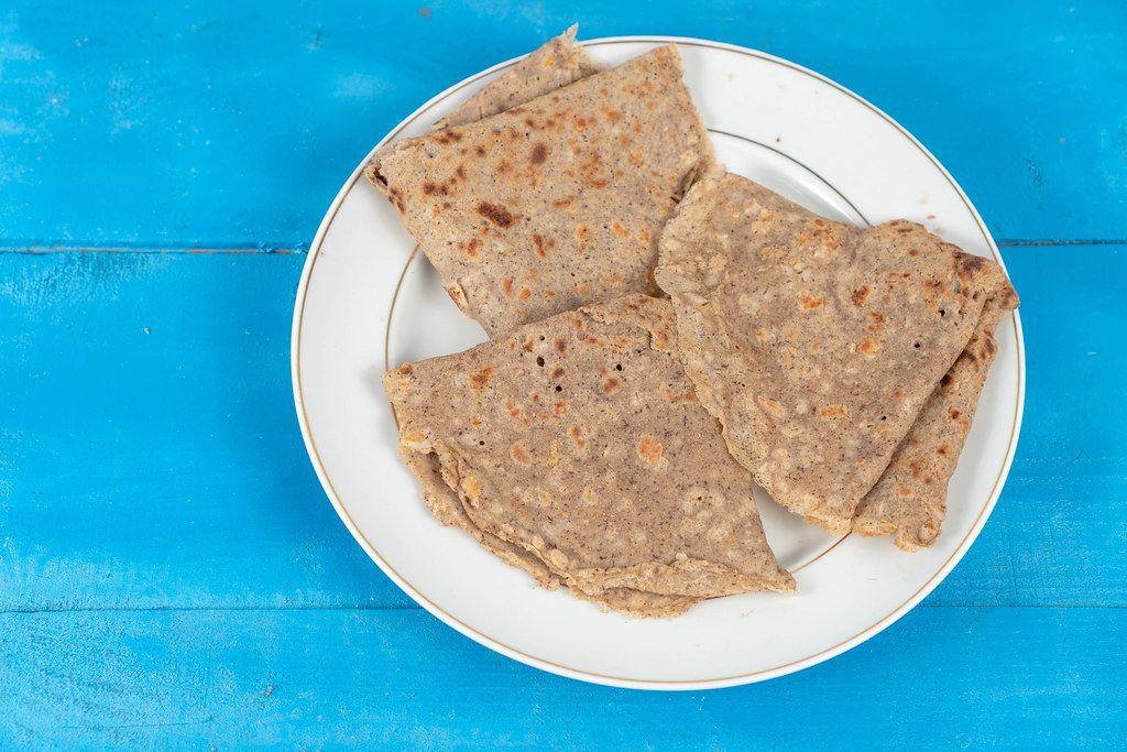 Whole wheat flour Pancakes on the plate