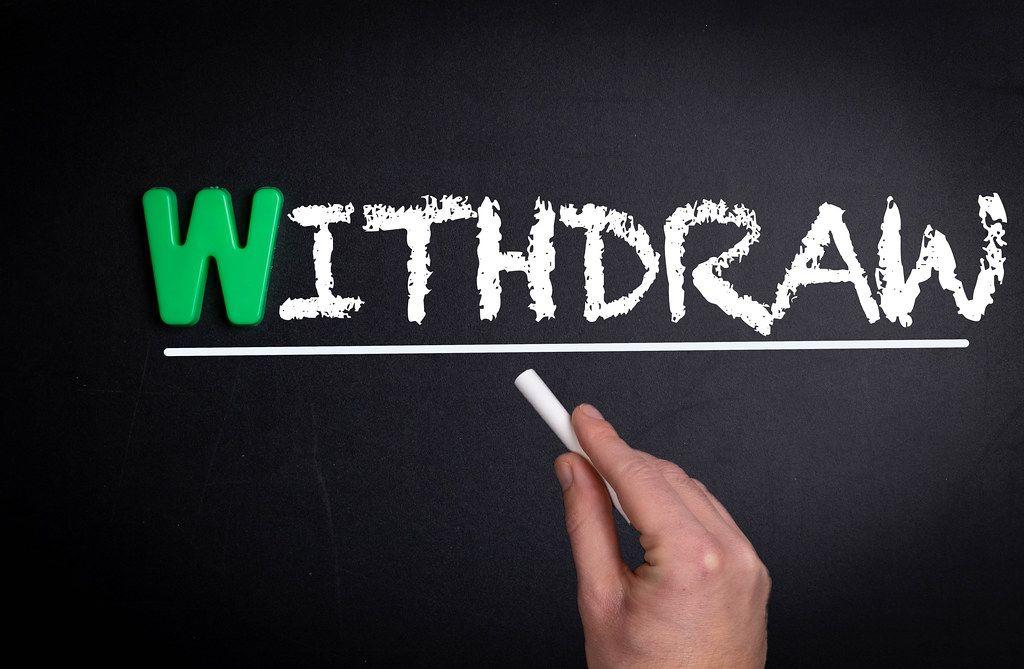 Withdraw text on blackboard
