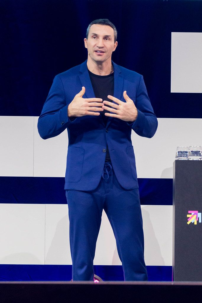 Wladimir Klitschko, former box champion and investor on stage at Digital X in Cologne