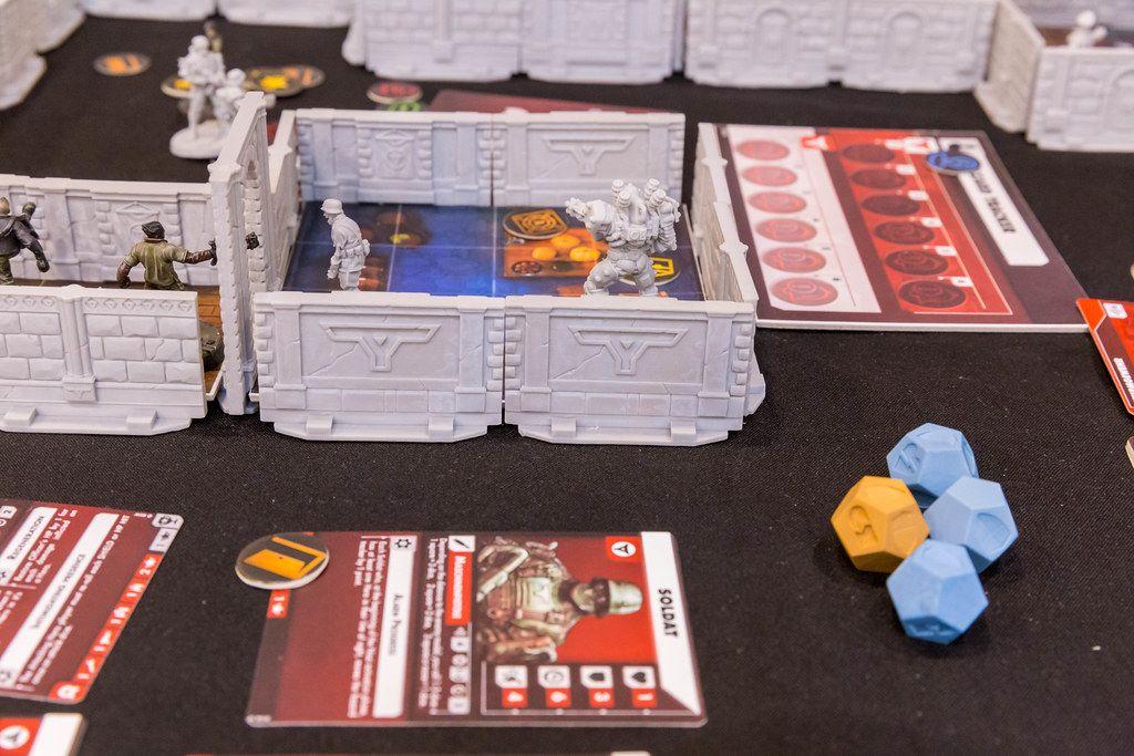Wolfenstein als Brettspiel aufgebaut aus der Nahaufnahme