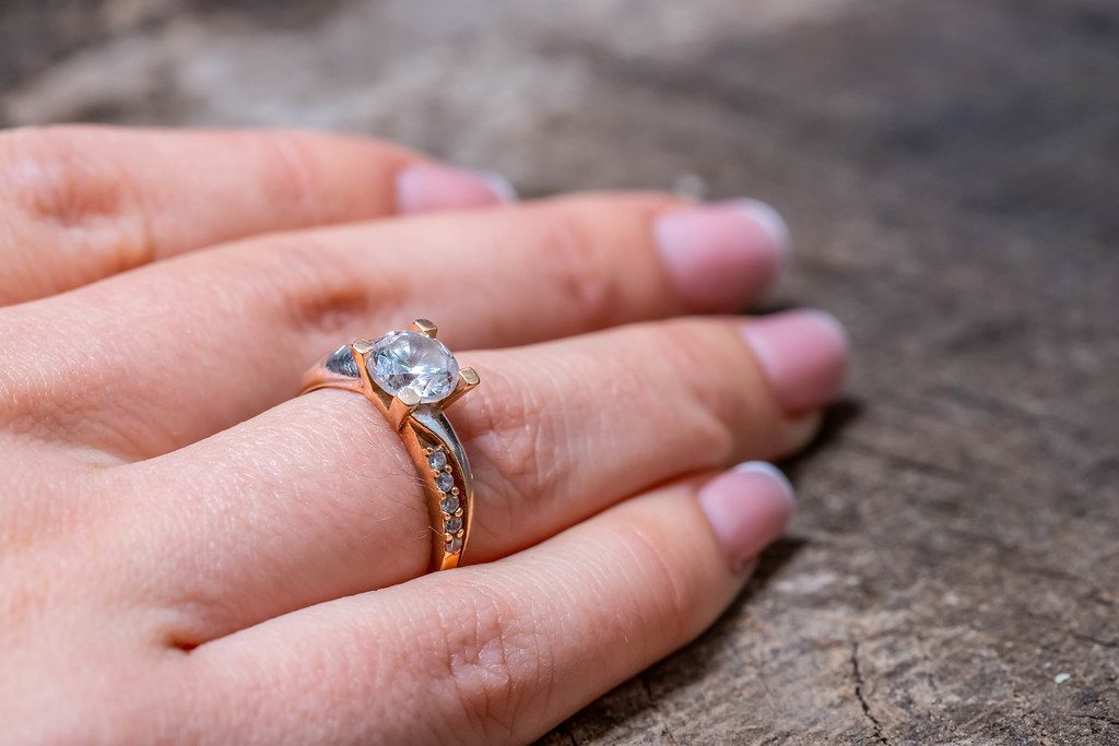 Woman's hand with a gold ring on her finger (Flip 2019)