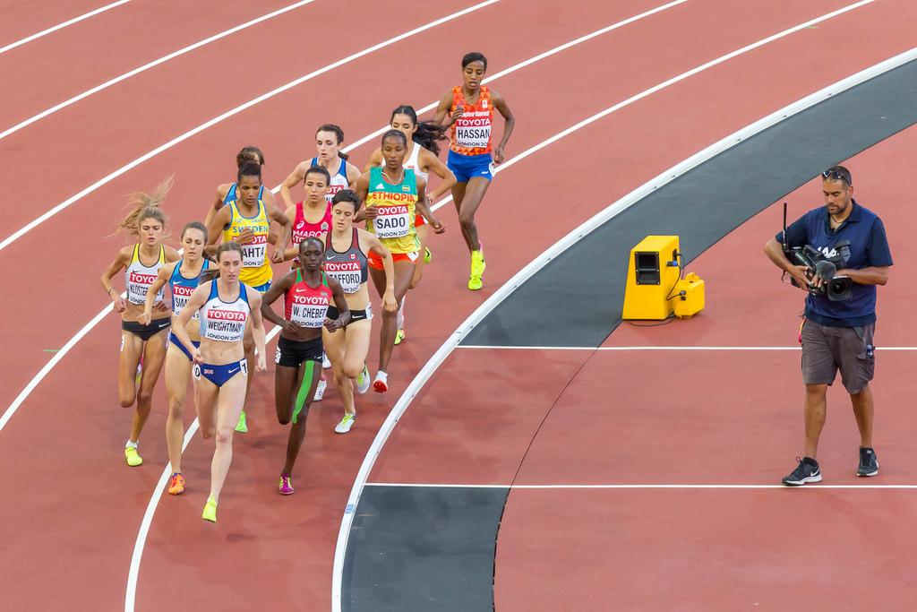 Women's 1500m second Semi Final in London 2017