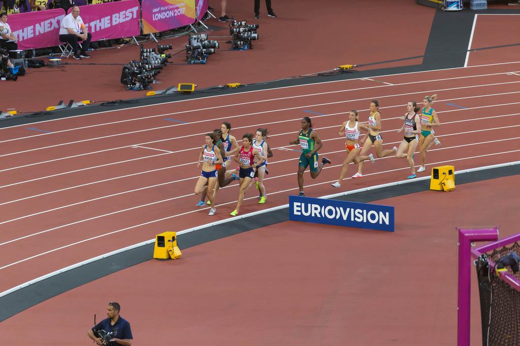Women's 1500m Semi Final in London 2017