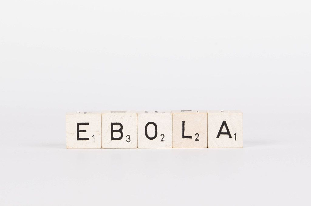Wooden blocks with the word Ebola