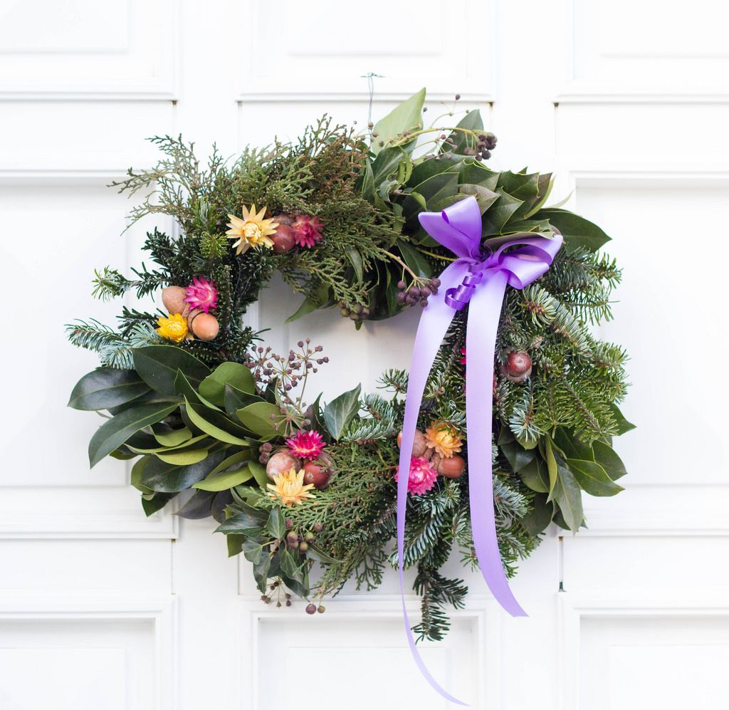 Wreath on the doors
