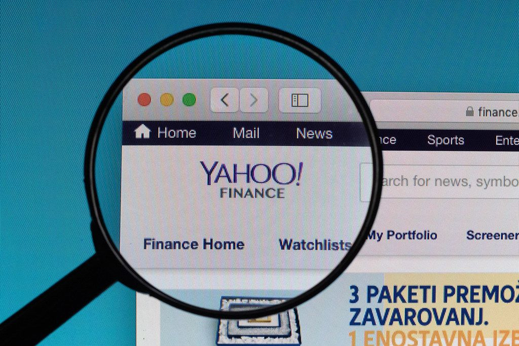 Yahoo! News website under magnifying glass
