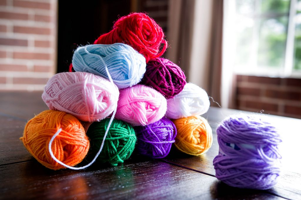 Yarns in a pyramid