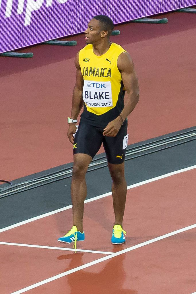 Yohan Blake after the Men's 100m Final in London 2017