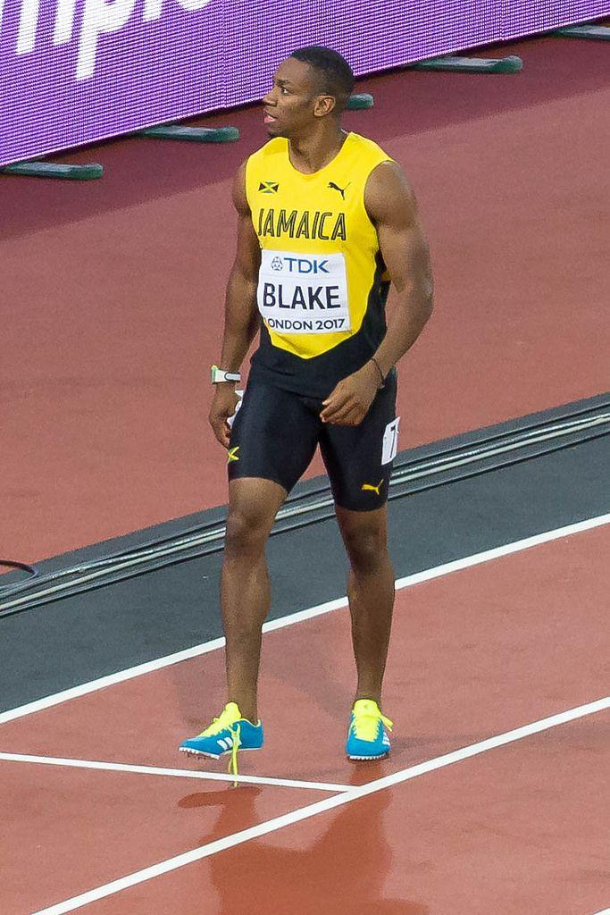 Yohan Blake after the Men's 100m Final in London 2017