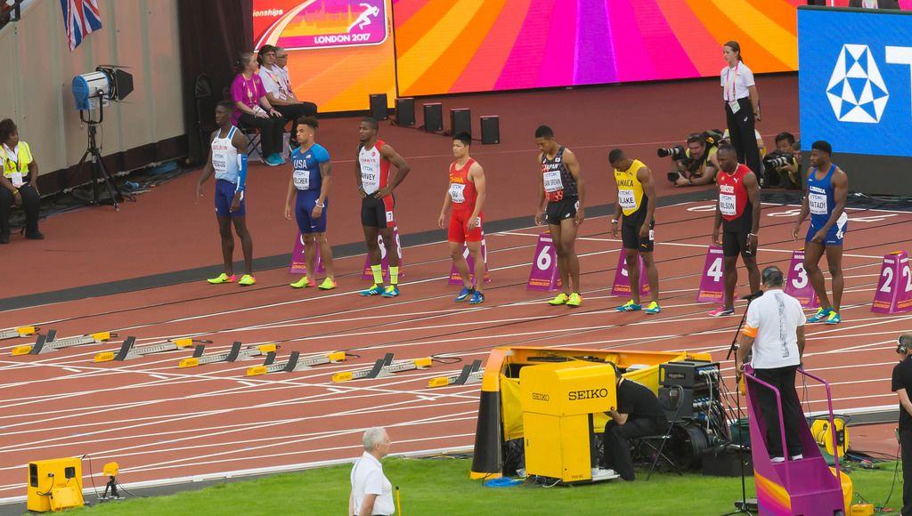 Yohan Blake, Reece Prescod und weitere 100-Meter-Läufer bei den IAAF Leichtathletik-Weltmeisterschaften 2017 in London