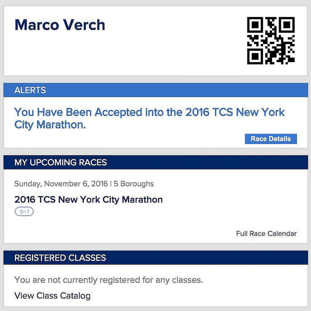 'You Have Been Accepted into the 2016 TCS New York City Marathon.' ??✈️#TCSNYCMarathon #happy #running @nycmarathon #nyc #marathontraining