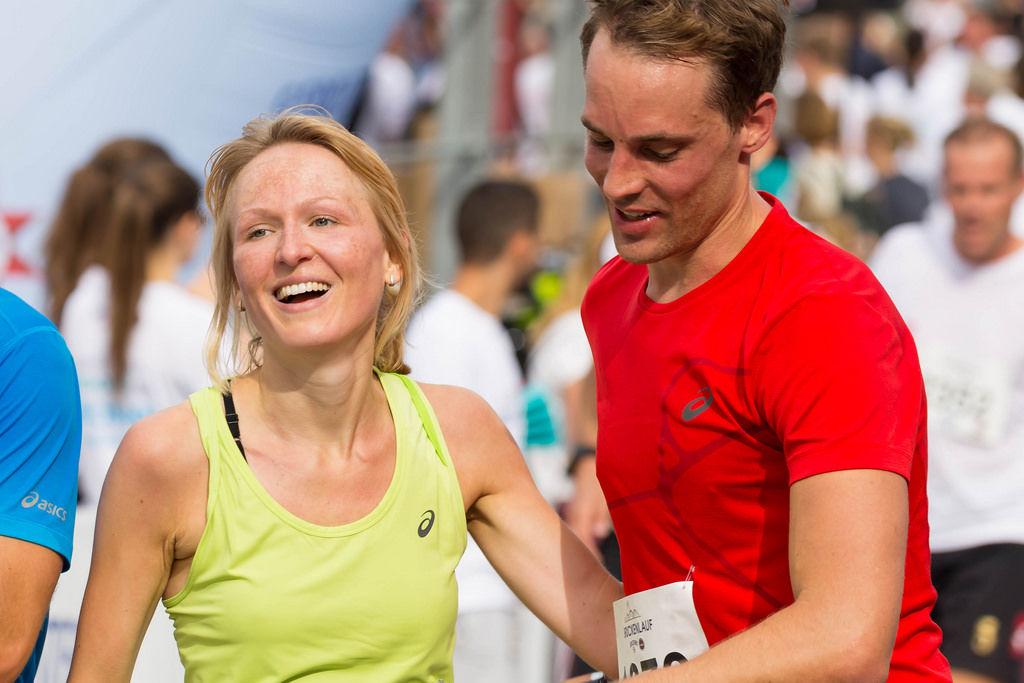 Zieleinlauf Gerolsteiner Brückenlauf 2016
