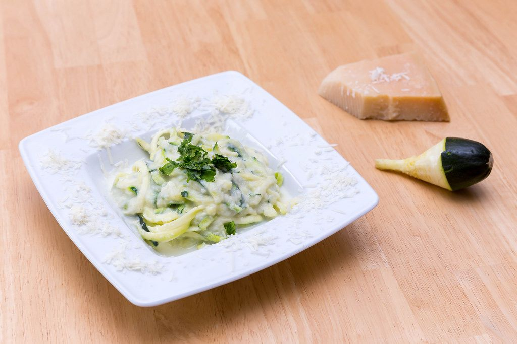 Zoodles with Cauliflower and Parmesan