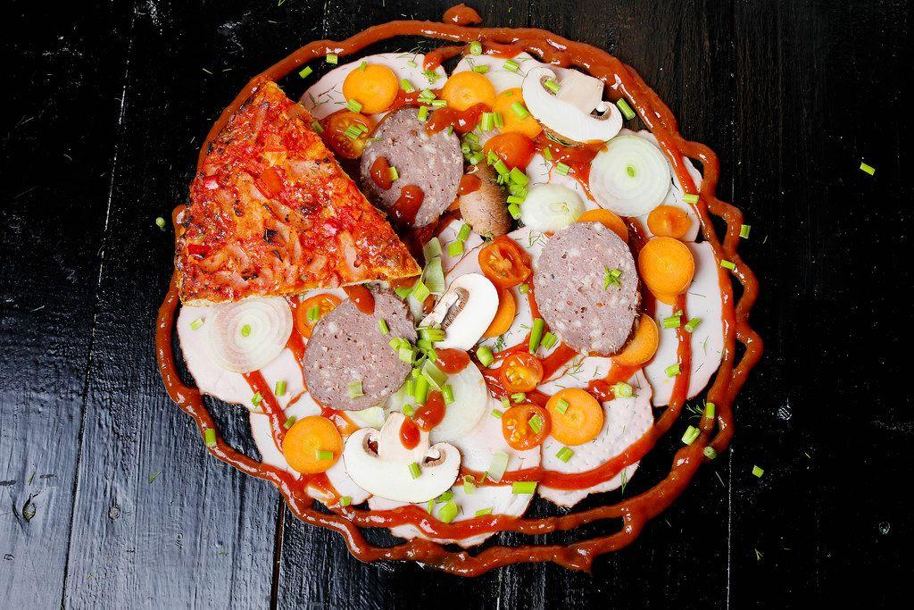 Zutaten für eine original italienische Pizza