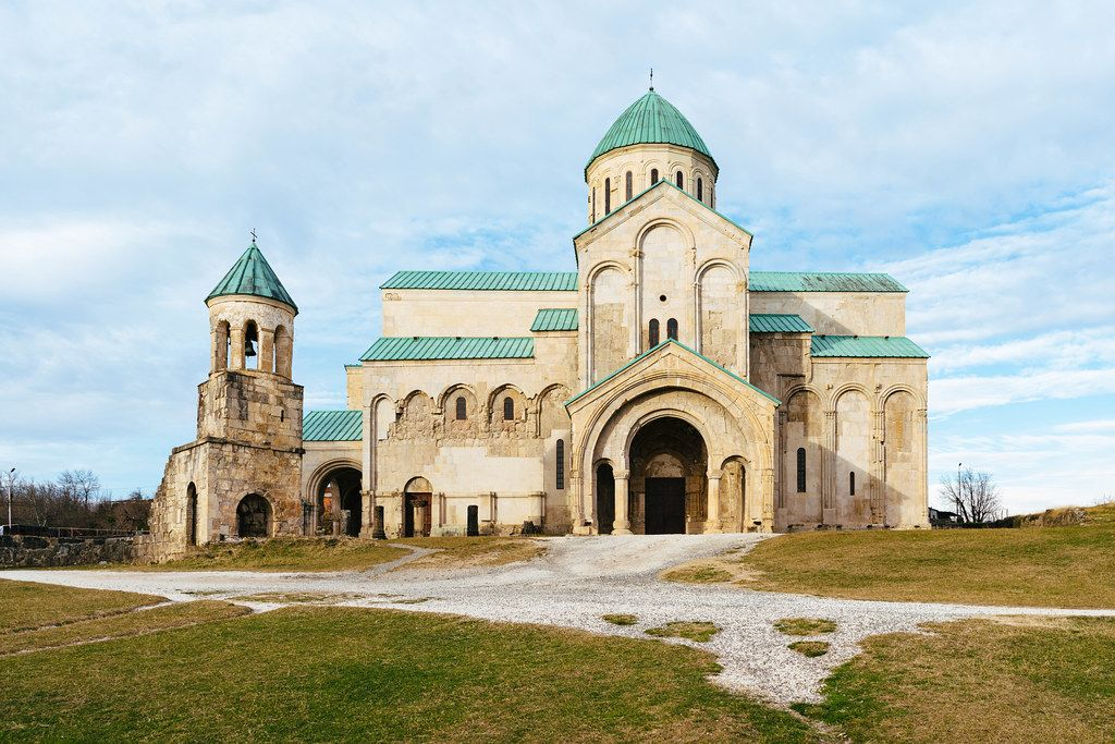 11th-century orthodox Bagrati Cathedral in Kutaisi, Georgia
