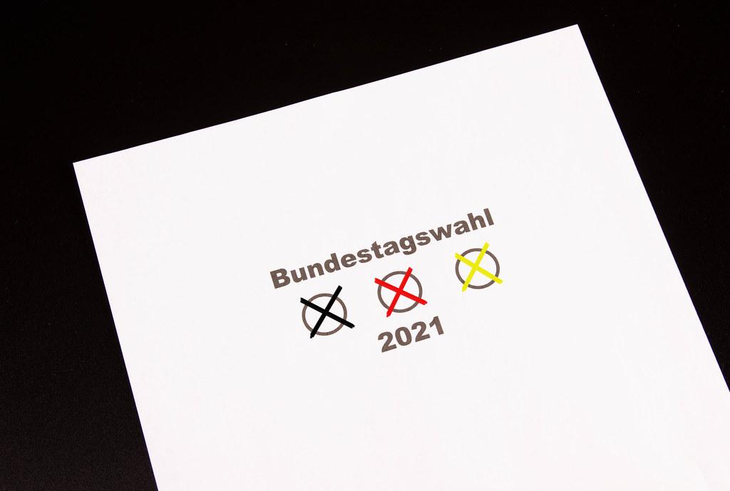 2021 Bundestagswahl concept