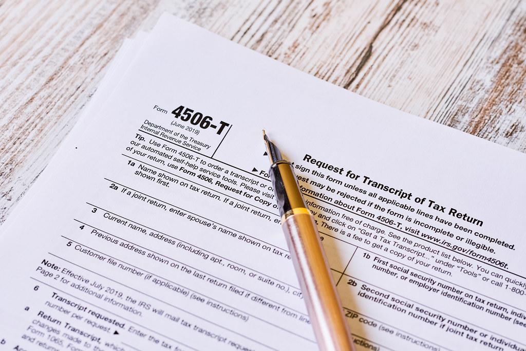 4506-t tax form