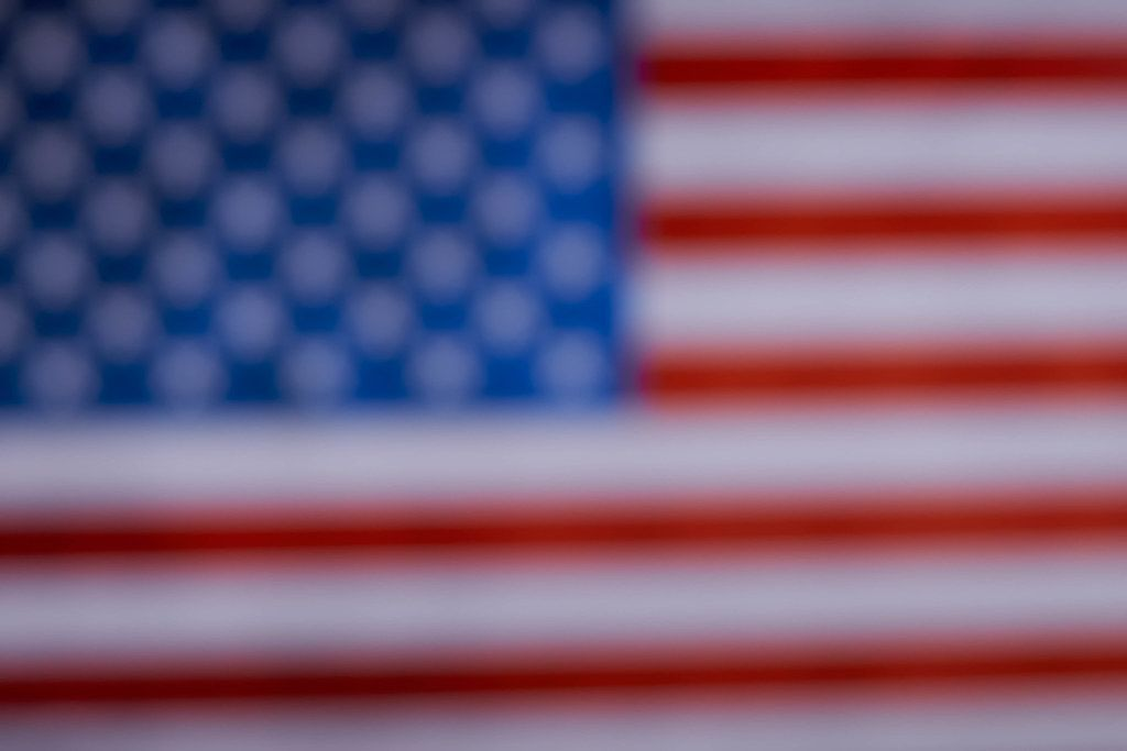 A blurred American national flag