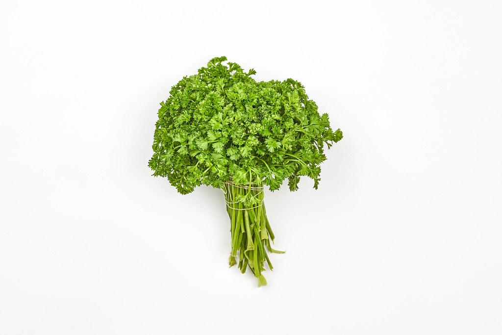 A bunch of fresh leafy greens