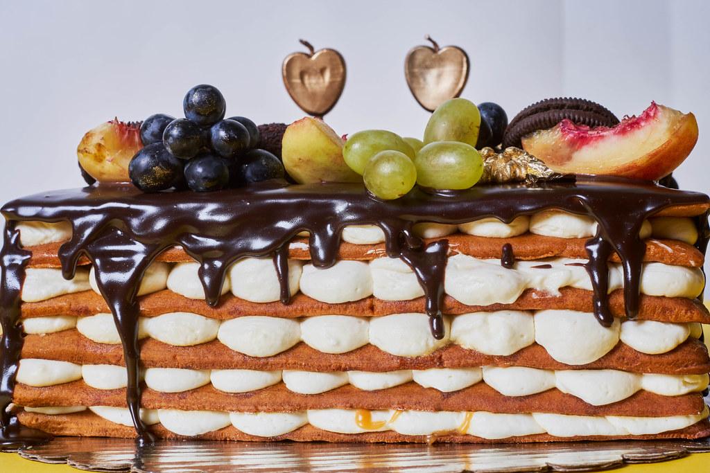 A delicious fruity birthday cake