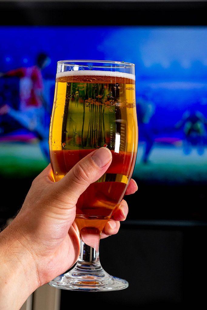 A glass in a man