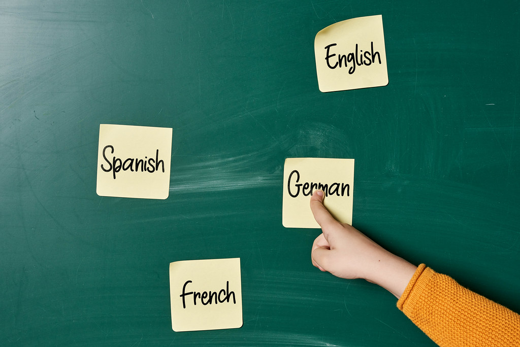 A kid choosing a foreign language to learn