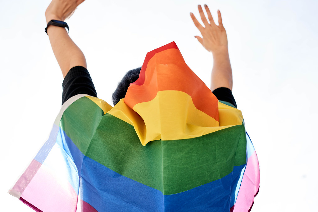 A woman participating in LGBT pride march