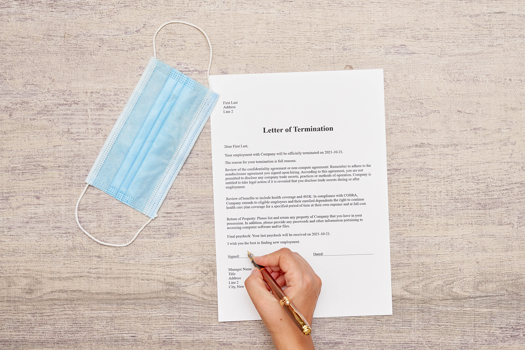 A worker received letter of termination