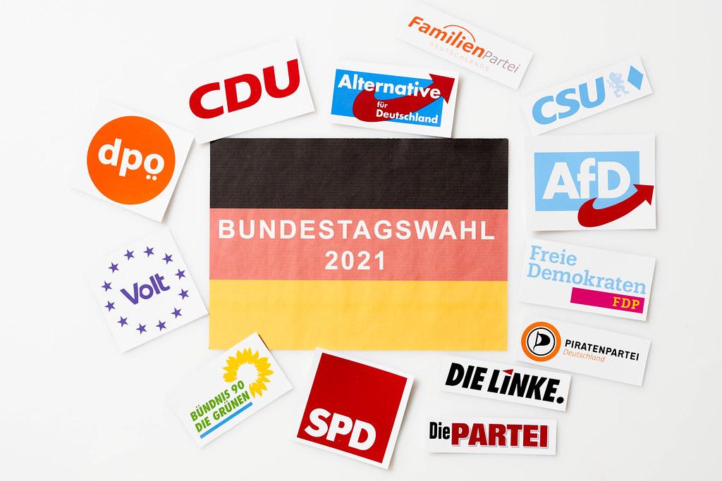 An der Bundestagswahl 2021 beteiligte deutsche Parteien