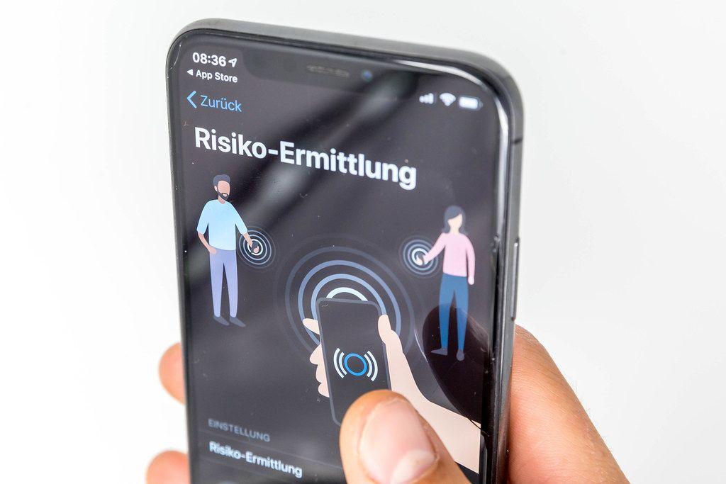 Ansteckungsrisiko-Ermittlung erfolgt über Bluetooth. Die App schützt die Privatsphäre der Nutzer