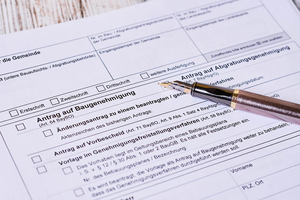 Antrag auf Baugenehmigung formular