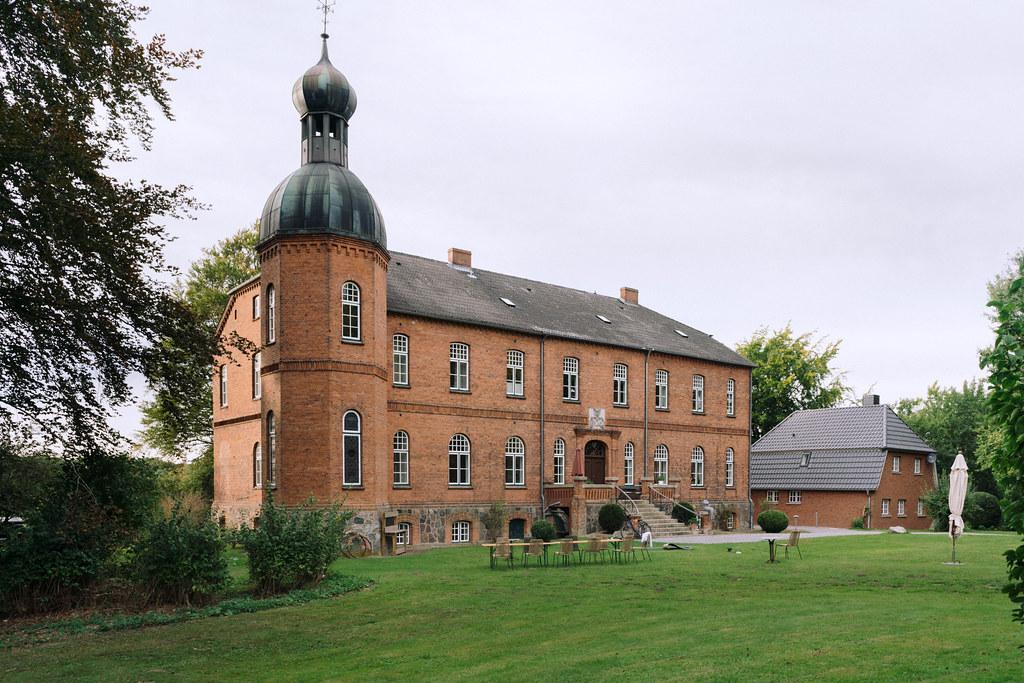Authentic old German brick mansion