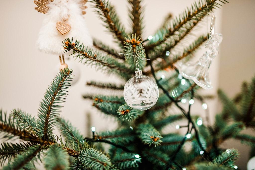 Ball Christmas Decor With Lights