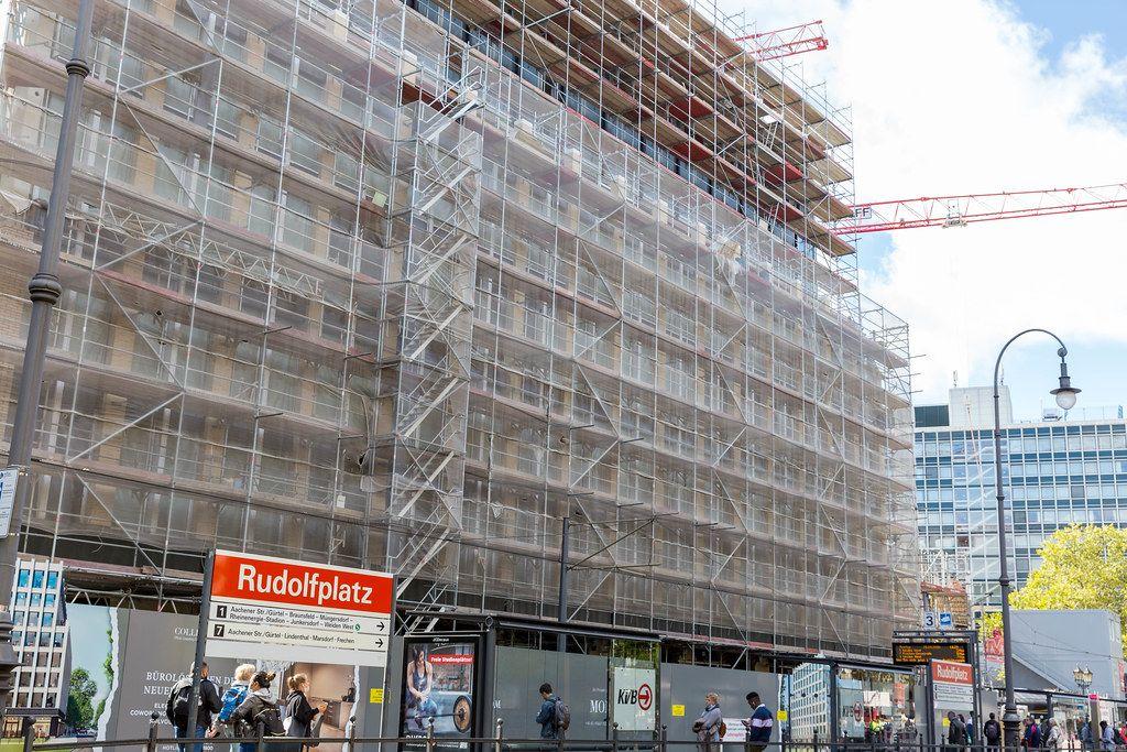 "Bauprojekt ""Wallarkaden"": die Großbaustelle am Rudolfplatz in Köln"