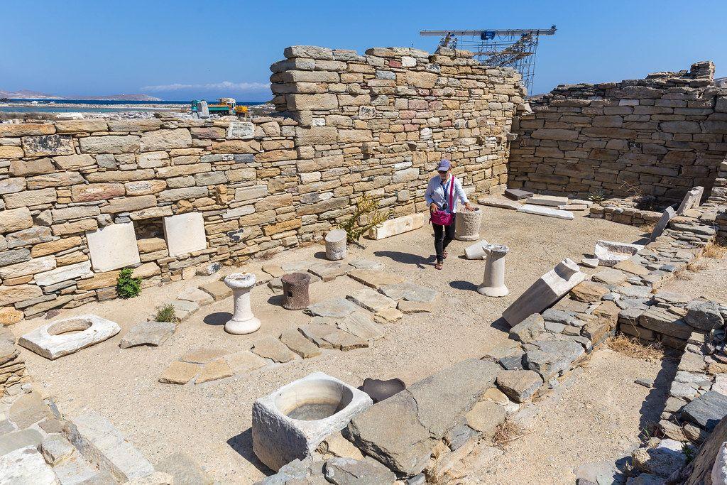 Besuch mit Führung der Ausgrabungsstätte Delos: in der Antike das Hauptzentrum der Kykladen