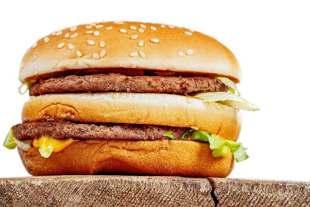 Big Mac burger, close up