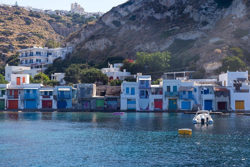 Bootshäuser von Klima auf Milos (Griechenland)